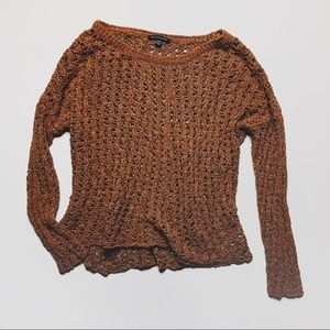 AEO ✨ Open Weave Boho Slouchy Knit Sweater — sz. M